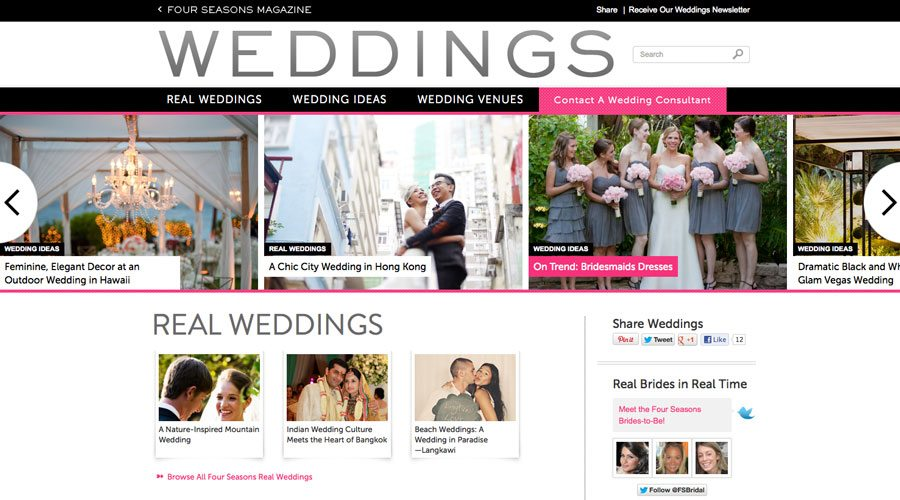 Four Seasons Weddings Home Page