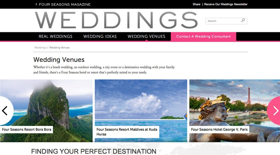 Four Seasons Wedding Venues