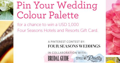 Ready, Set, Pin: Four Seasons Weddings Pinterest Contest