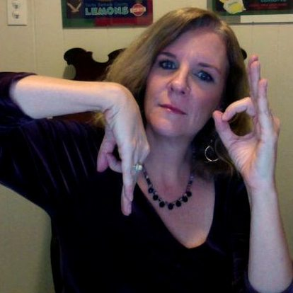 """""""Here's when I tried to invent a gang sign for my blog. It didn't catch on."""" *laughs*"""
