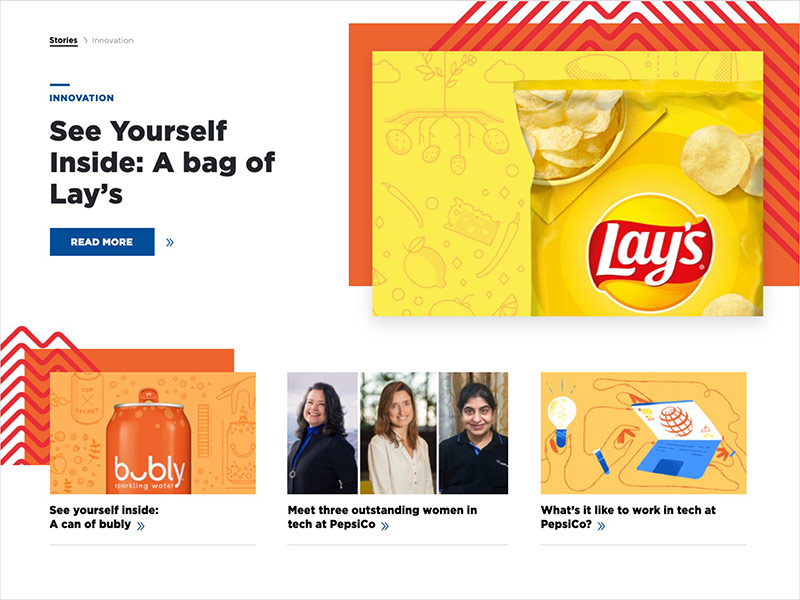 PepsiCo's See Yourself Inside Content Series for their PepsiCo Stories site