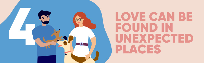 For brands or in dating relationships, love can be found in unexpected places.